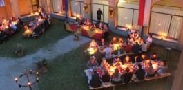 A cena con i capitani del colleoni