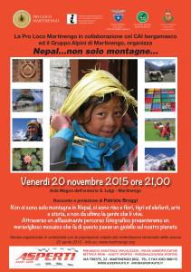 Serata solidale: Nepal...non solo montagne... @ Aula magna dell'oratorio San Luigi - Martinengo