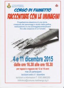 """CORSO DI FUMETTO """"RACCONTARE CON LE IMMAGINI"""" @ Biblioteca comunale"""