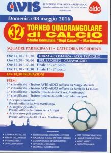 """32esimo Torneo Quadrangolare di Calcio @ Stadio Comunale """"Bepi Casari""""-Martinengo"""