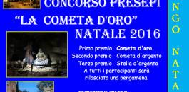 """Concorso Presepi """"La cometa d'Oro"""" Natale 2016"""