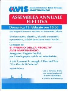 Assemble annuale elettiva Avis @ Oratorio   Martinengo   Lombardia   Italia