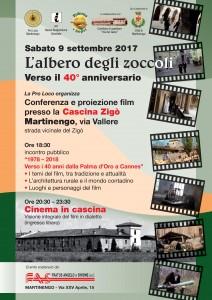 L'albero degli zoccoli verso il 40° anniversario: conferenza e proiezione del film @ Cascina Zigò | Martinengo | Lombardia | Italia