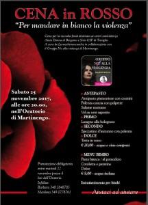Cena in rosso. Per mandare in bianco la violenza.  @ Oratorio di Martinengo | Martinengo | Lombardia | Italia