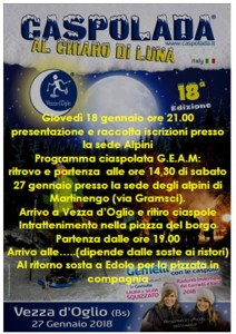 Presentazione e raccolta iscrizioni Caspolada al chiaro di Luna